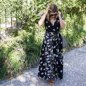 Free a people  wrap maxi floral dress